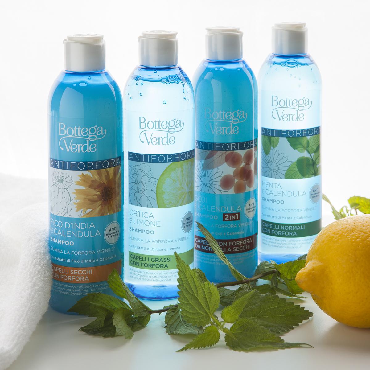 shampoo antiforfora ortica limone menta